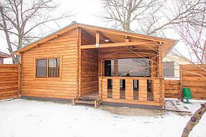 Дом деревянный из профилированного бруса 43,3 м кв