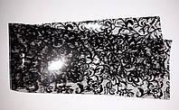 Фольга  для декора ногтей - черные кружева и цветы .