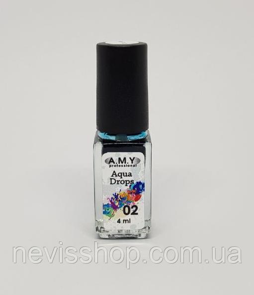Чорнило A. M. Y. Aqua Drops 02, колір блакитний, 4 мл