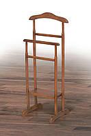Напольная вешалка-плечики Сигма Микс деревянная в цвете орех