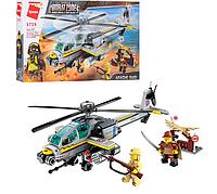Конструктор 1719 військовий гелікоптер, 280 деталей