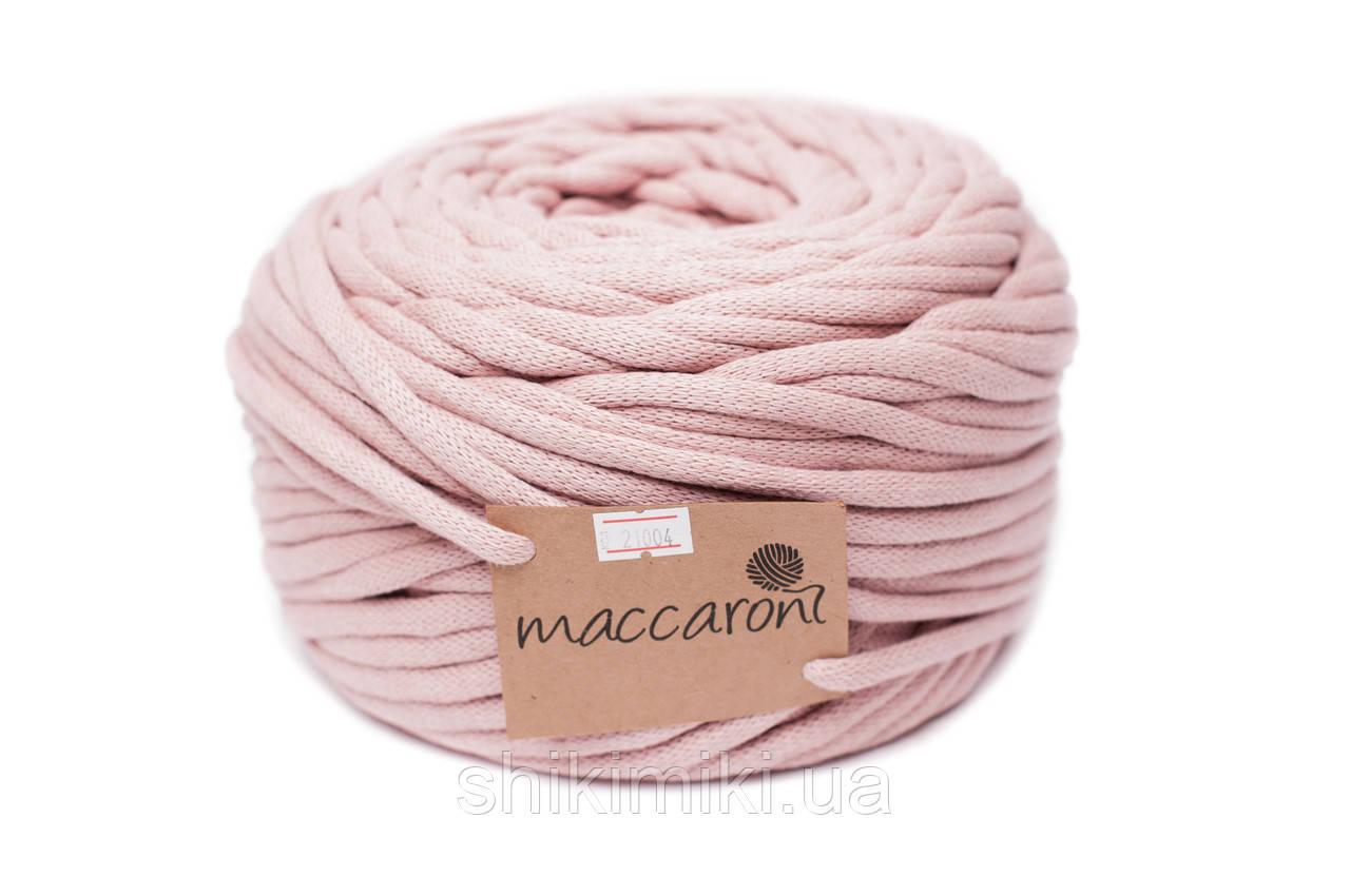 Трикотажный шнур Cotton Filled 8 mm, цвет Бледная пудра