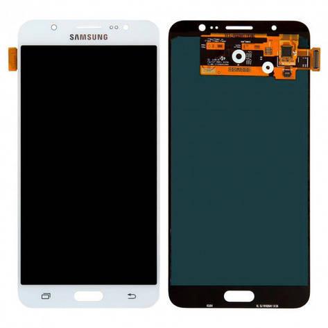 Дисплей (LCD) Samsung J710F/  J710H Galaxy J7 2016 TFT с сенсором белый, фото 2