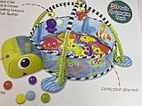 Коврик-манеж с шариками Черепаха 668-31-32, фото 3