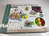 Коврик-манеж с шариками Черепаха 668-31-32, фото 4