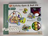 Коврик-манеж с шариками Черепаха 668-31-32, фото 2