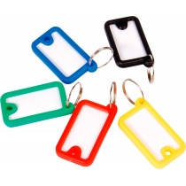 Брелок для ключей пластиковый Economix, 73х38 мм, ассорти