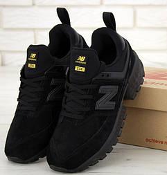 Мужские кроссовки New Balance 574 Sport V2 черные замша. Живое фото. Реплика