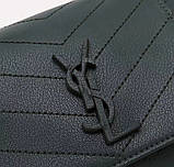 Сумка Ів Сен Лоран 23 і 31 см натуральна шкіра клатч, фото 8