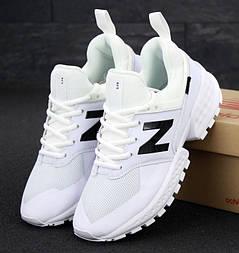 Мужские кроссовки New Balance 574 Sport V2 белые кожа. Живое фото. Реплика