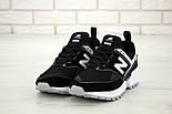Мужские кроссовки New Balance 574 Sport V2 черные с белым замша. Живое фото. Реплика, фото 4