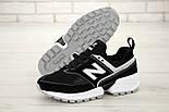 Мужские кроссовки New Balance 574 Sport V2 черные с белым замша. Живое фото. Реплика, фото 5