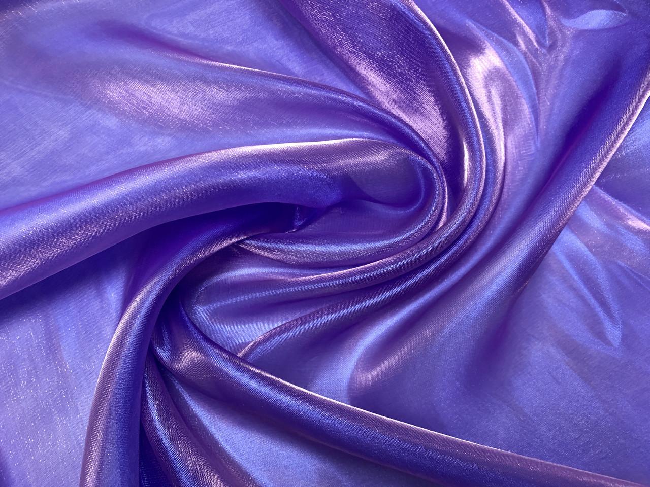Органза кристалик, голубой - морская волна