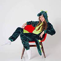 Пижама кигуруми - Зеленый Дракон - серия Premium Velsoft