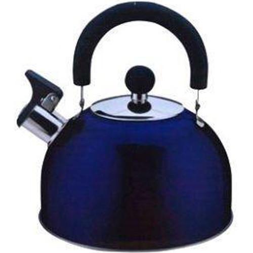 """Чайник нерж. 2.5 л зі свистком синій """"HOZLAND"""""""