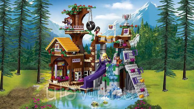 """Конструктор Bela 10497 (Аналог Lego Friends 41122) """"Спортивный лагерь: дом на дереве"""" 739 деталей"""