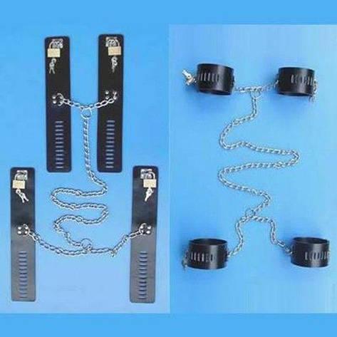 Черный кожаный бондаж из натуральной кожи черный, фото 2