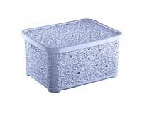 """Красивая корзина для хранения вещей """"Ажур"""" 24 л. (Турция) изготовлена из качественного пластика, не содержит в"""