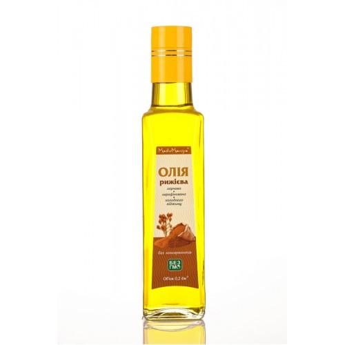 Рижієва сиродавлена олія 250