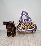 Сумочка с животным  арт 21896-99  2 корот.ручки, собачка  плюш, 3 вида, в кульке, 18-16-7 см, фото 4