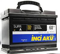 Аккумулятор 60Ah INCI AKU, R, EN 540 Supr A,  автомобильный. Работаем с НДС
