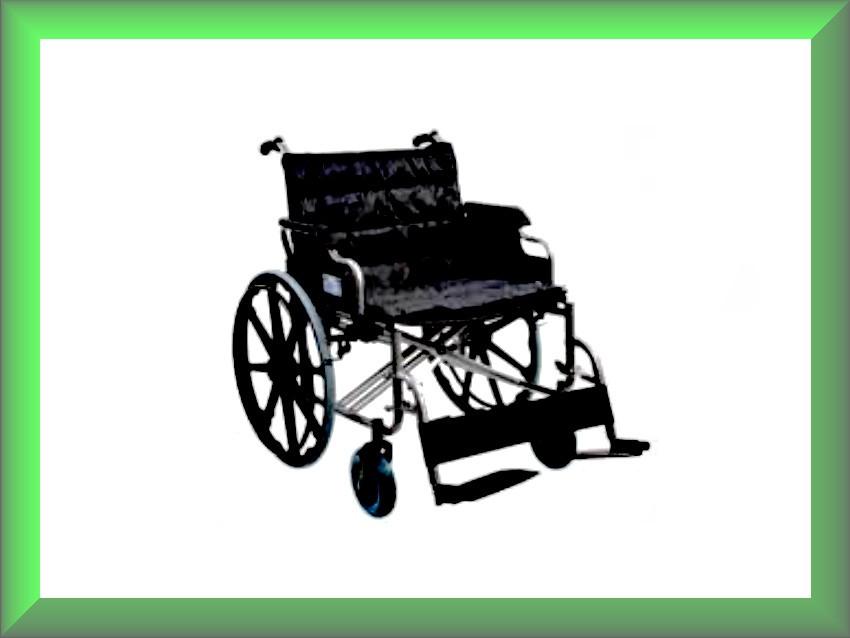 Коляска инвалидная для людей с большим весом без двигателя G140
