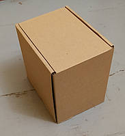 Коробка бурая 117х166х166 самосборная (шкатулка)
