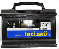 Аккумулятор 75Ah INCI AKU EN 700, R, SuprA,  автомобильный .Работаем с НДС