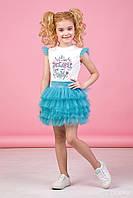 Zironka Комплект (футболка, юбка) бирюзовый для девочки 64-9018-6