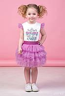 Zironka Комплект (футболка, юбка) сиреневый для девочки 64-9018-5