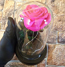 Подарунок дівчині! РОЗА в скляній колбі +Підсвічування (нічник) Рожева (справжні фото!), фото 2