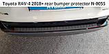 Пластиковая защитная накладка на задний бампер Toyota RAV-4 2018+, фото 5