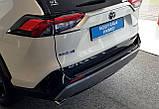 Пластиковая защитная накладка на задний бампер Toyota RAV-4 2018+, фото 6