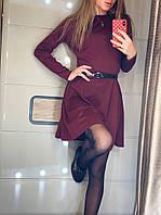 Платье трикотажное с пояском  в расцветках 41760