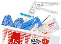 Набор гинекологический JS №3 Стандарт с бахилами (раз.S,M)