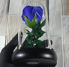 Подарунок дівчині! РОЗА в скляній колбі +Підсвічування (нічник) Синя (справжні фото!), фото 3