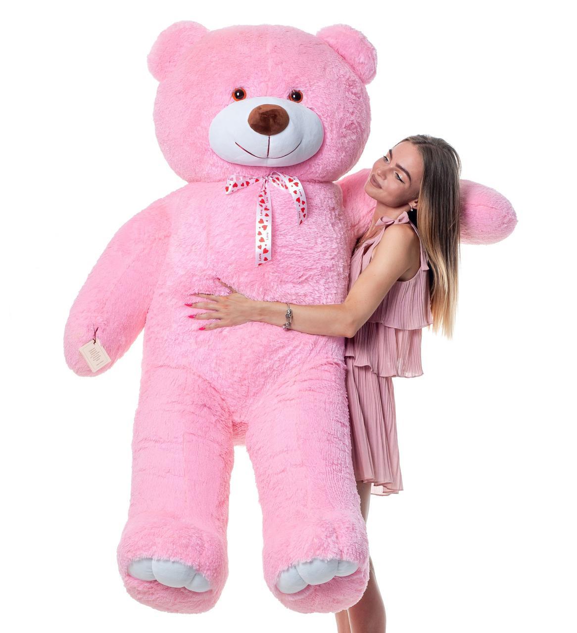Плюшевий ведмедик Mister Medved Рожевий 2 метри