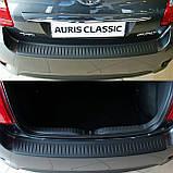 Пластиковая защитная накладка на задний бампер для Toyota Auris 3/5dr. 2010-2012, фото 3