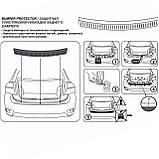 Пластиковая защитная накладка на задний бампер для Toyota Auris 3/5dr. 2010-2012, фото 5