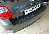 Пластиковая защитная накладка на задний бампер для Toyota Auris 3/5dr. 2010-2012, фото 4