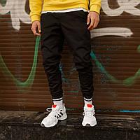 """Очень теплые мужские штаны карго """"Грут"""" с манжетами черные - M, L, XL, фото 1"""