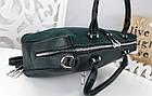 Женская сумка зеленого цвета,эко-кожа+натуральный замш, фото 3