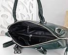 Женская сумка зеленого цвета,эко-кожа+натуральный замш, фото 4