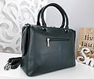 Женская сумка зеленого цвета,эко-кожа+натуральный замш, фото 10