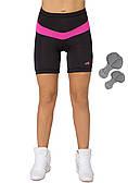 Велошорты женские с памперсом Radical Shine, чёрные с розовым