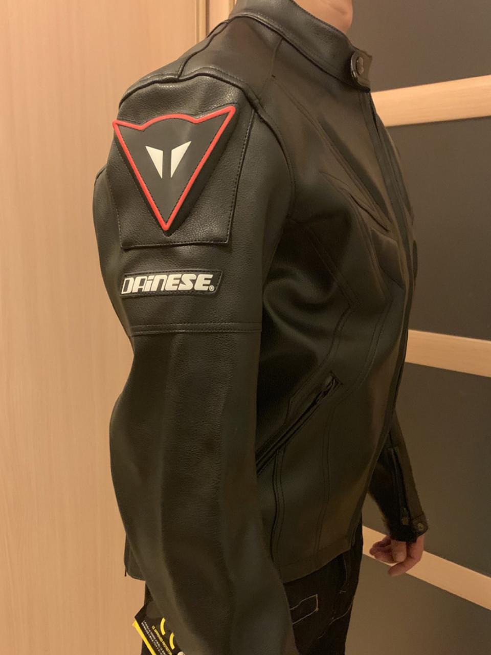 Мотокуртка кожа Dainese защитная Куртка для мото
