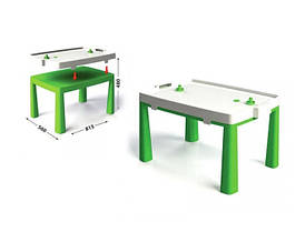 Пластиковый стол с насадкой для аэрохоккея салатовый 04580/2  Долони