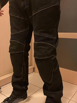Защитные мотоджинсы komine rjp slim pk-718 black, фото 2