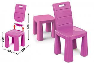 Детский стул табурет трансформер, 2 в 1, стульчик 04690/3 розовый