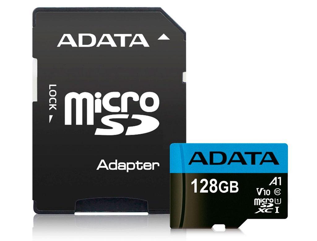 Карта пам'яті ADATA 128GB microSD, class 10 UHS-I A1 Premier (AUSDX128GUICL10A1-RA1)
